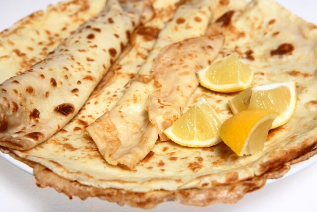 England: Pancakes with Sugar and Lemon