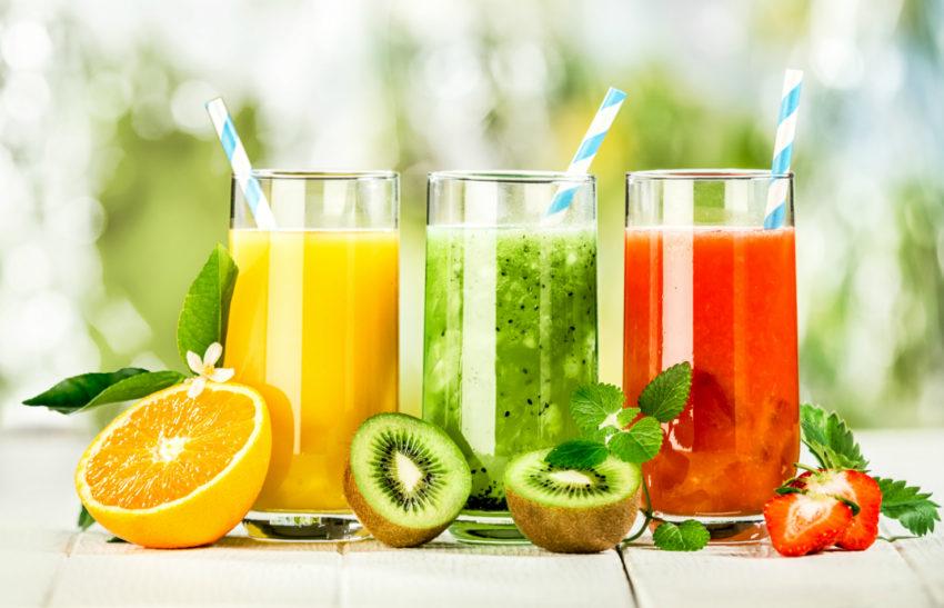 Juices, lemonade and tea
