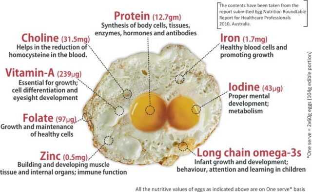 Nutrition Value of Eggs