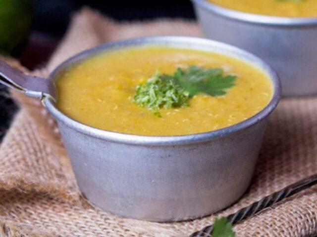 Creamy pumpkin Mexican soup