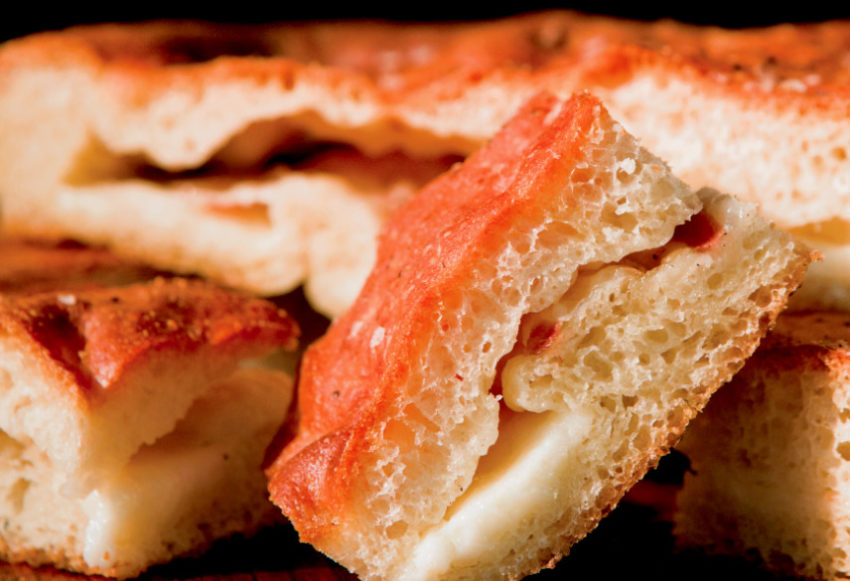 Focaccia Stuffed with Taleggio and Pancetta
