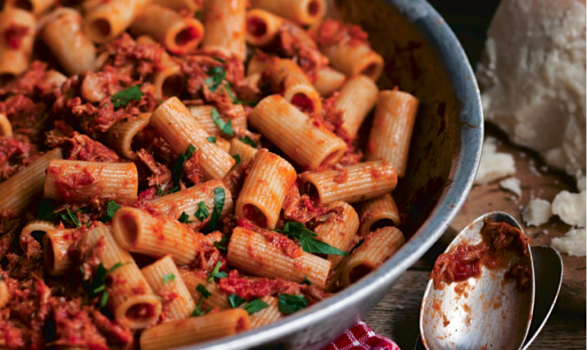 Rigatoni with Sunday night Ragu